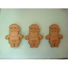 3mm MDF Santa Bunting (pack of 10) Christmas Shapes