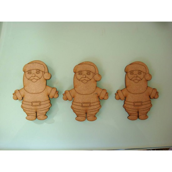 3mm MDF Santa shape/tag/embellishment