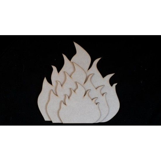 3mm MDF Individual Flames for a Hearth (3 sizes to choose from) Christmas Shapes