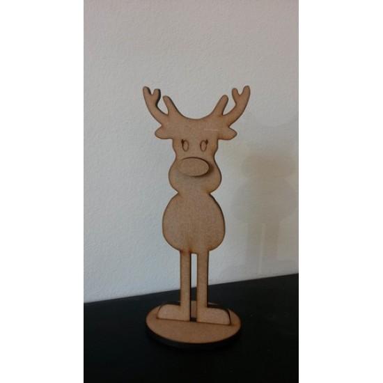 4mm MDF Girl Reindeer - Freestanding Christmas Shapes