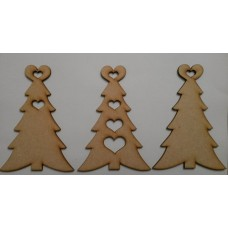 3mm MDF Heart Top Christmas Christmas Shapes