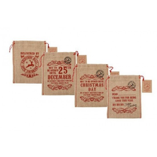 Hessian Gift Bags (small) (choice of 4 styles)