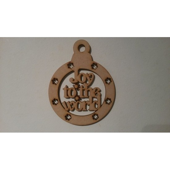 3mm MDF Christmas Bauble - with set wording Christmas Baubles