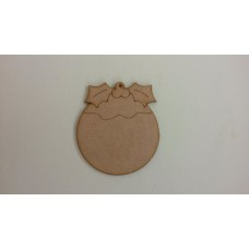 3mm MDF Christmas Pudding (pack of 5)(100mm) Christmas Shapes