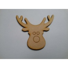 3mm MDF Reindeer Head Christmas Bunting (pack of 10) Christmas Shapes