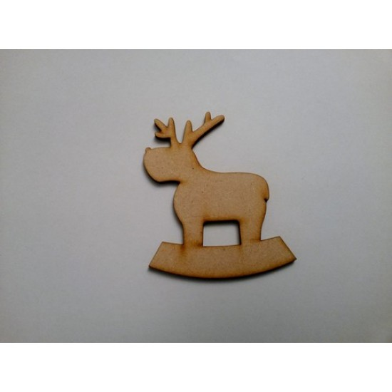 3mm MDF Rocking Reindeer (Version 3) (Pack of 5) Christmas Shapes