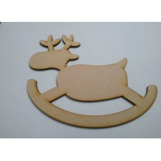 3mm MDF Rocking Reindeer (Version 1)(pack of 5) Christmas Shapes