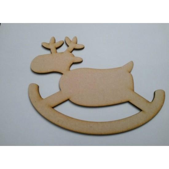 3mm MDF Rocking Reindeer (Version 1)(pack of 5) Christmas Shapes