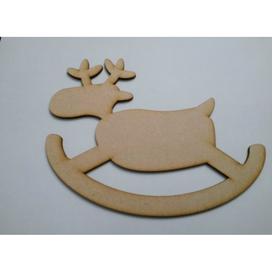 Wooden MDF Prancing Xmas Reindeer Shape Bunting Craft Embellishments Decorations
