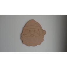 3mm MDF Santa Face Christmas Shapes