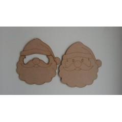 3mm MDF 3D Santa Face Door Hanger  Christmas Shapes