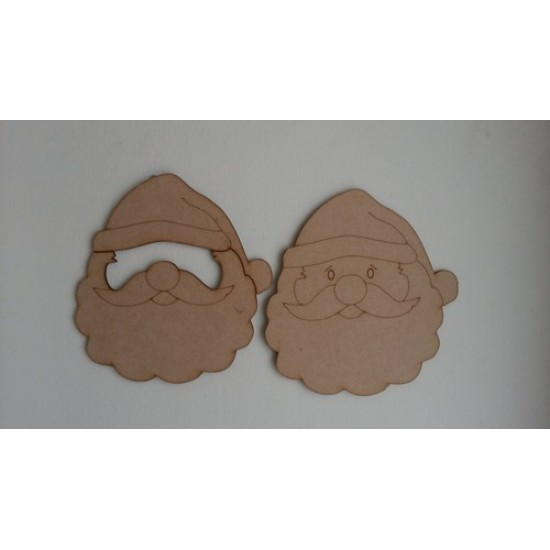 3mm MDF 3D Santa Face Door Hanger  Christmas Shapes