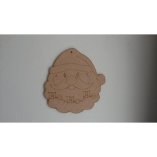 3mm MDF Santa Face with Ho Ho Ho etching Christmas Shapes