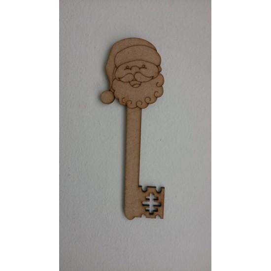 3mm MDF Santa Head Key 150mm Christmas Shapes