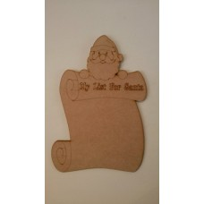 3mm MDF My List for Santa Chalkboard Christmas Shapes