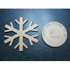 3mm MDF Snowflake 3cm (pack of 10) Christmas Shapes