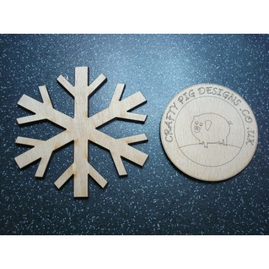 3mm MDF Snowflake Christmas Shapes