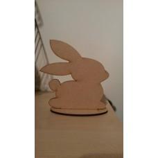 3mm MDF Easter Bunny on plinth - lindt style Easter