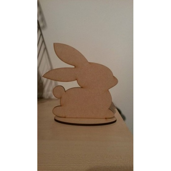 3mm MDF Easter Bunny on plinth - lindt style Easter