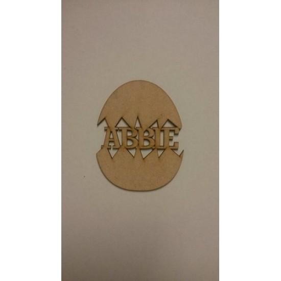 3mm MDF Personalised Easter Egg (Cracked Egg) Easter