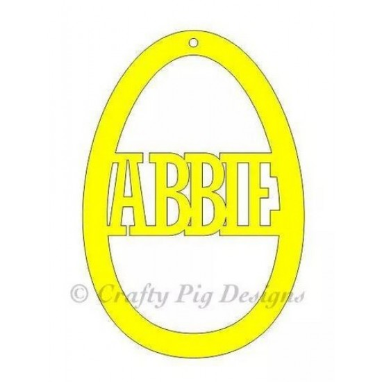 3mm MDF Personalised Easter Egg Bauble Easter