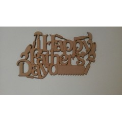 3mm MDF Happy Father's Day hanging plaque with tools Fathers Day