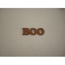 3mm MDF Boo word (by width) Halloween