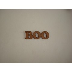 3mm MDF Boo word (by width)