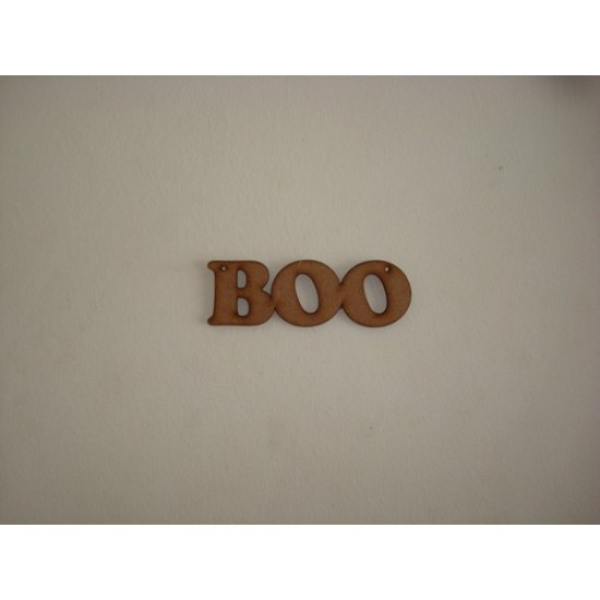3mm MDF Boo word (by width) Halloween