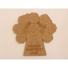 3mm MDF Mother's Day Bouquet Mother's Day