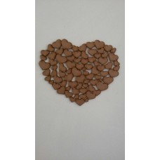 3mm MDF A Heart of Hearts plaque Hearts