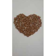 3mm MDF A Heart of Hearts plaque