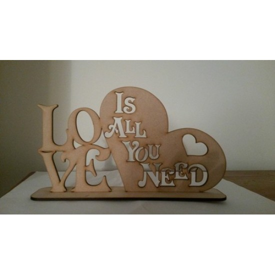3mm MDF LOVE is all you need plinth
