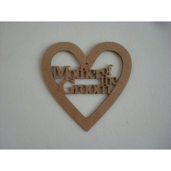 3mm MDF Mother of the Groom Wedding Heart Wedding
