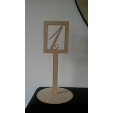 3mm MDF Wedding Table Number Rectangular Stand - number cut out (300mm) Wedding