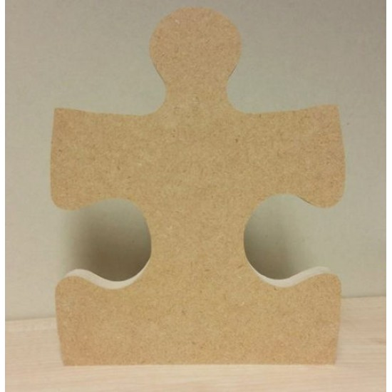18mm Single Jigsaw Piece Straight Edge 18mm MDF Craft Shapes