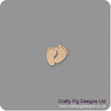 3mm MDF Joined Funny Feet (Pack of 10) Baby Shapes