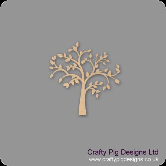 3mm MDF Leafy Tree Trees Freestanding, Flat & Kits