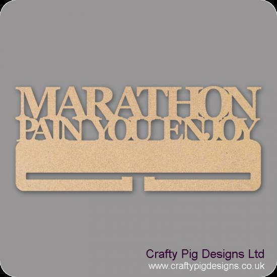 """4mm MDF Marathon """"Pain you Enjoy"""" Medal Holder Medal Holder / Hanger"""