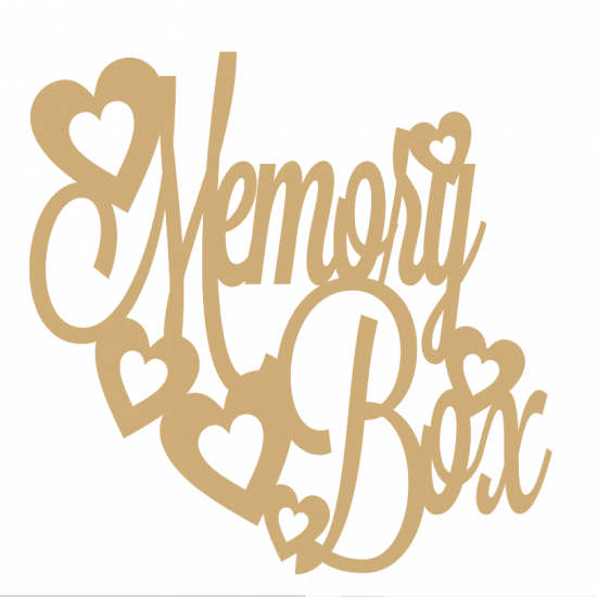 3mm MDF Memory Box Topper 250x250 Box Toppers