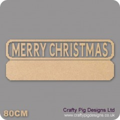 18mm Merry Christmas Street Sign 18mm MDF Signs & Quotes