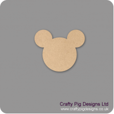 3mm MDF Mickey Mouse Head Bunting (singles) Baby Shapes