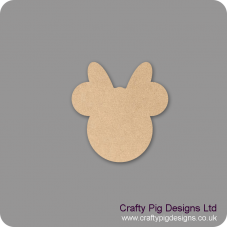 3mm MDF Minnie Head Bunting (pack of 10) Bunting