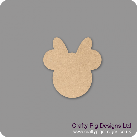 3mm MDF Minnie Mouse Head Bunting (singles) Baby Shapes