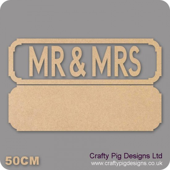 18mm MR & MRS Street Sign 18mm MDF Signs & Quotes