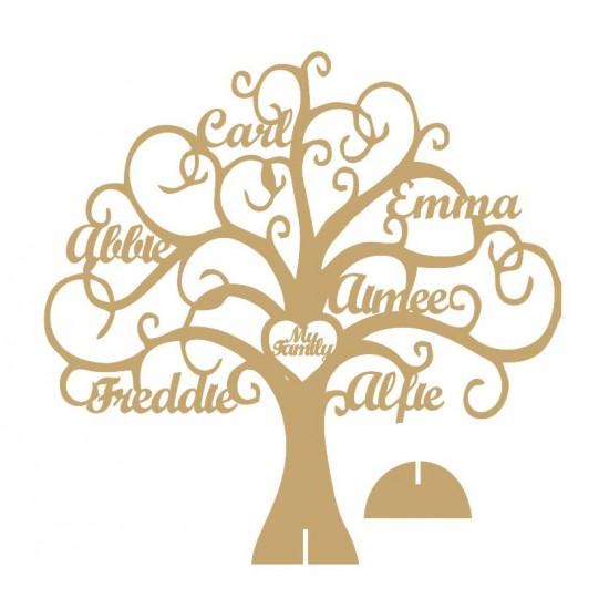 4mm MDF Personalised Freestanding - My Family Tree Trees Freestanding, Flat & Kits