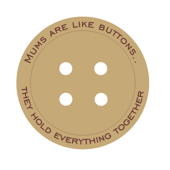 18mm Engraved Button - Mums Are Like Buttons....(various options) Mother's Day