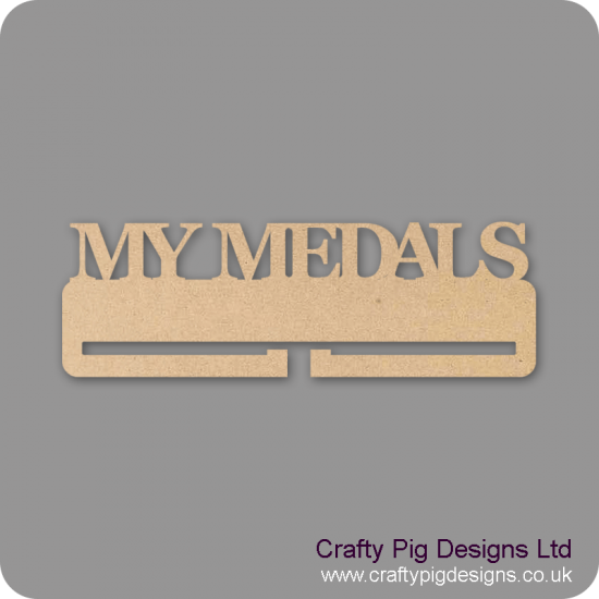 4mm MDF My Medals Medal Holder Medal Holder / Hanger