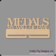"""4mm MDF Medals """"My wall of Fame"""" Medal Holder Medal Holder / Hanger"""