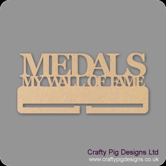 "4mm MDF Medals ""My wall of Fame"" Medal Holder"